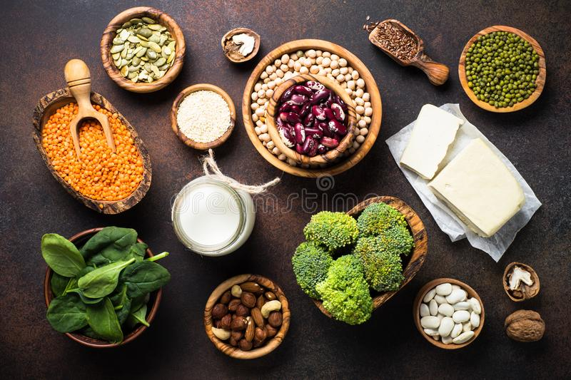 Vegan protein source. royalty free stock images