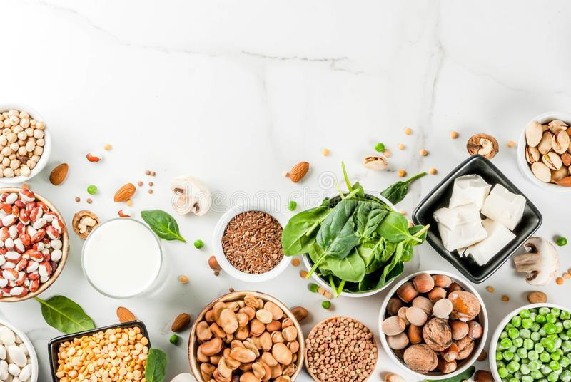 Vegan protein sources royalty free stock image