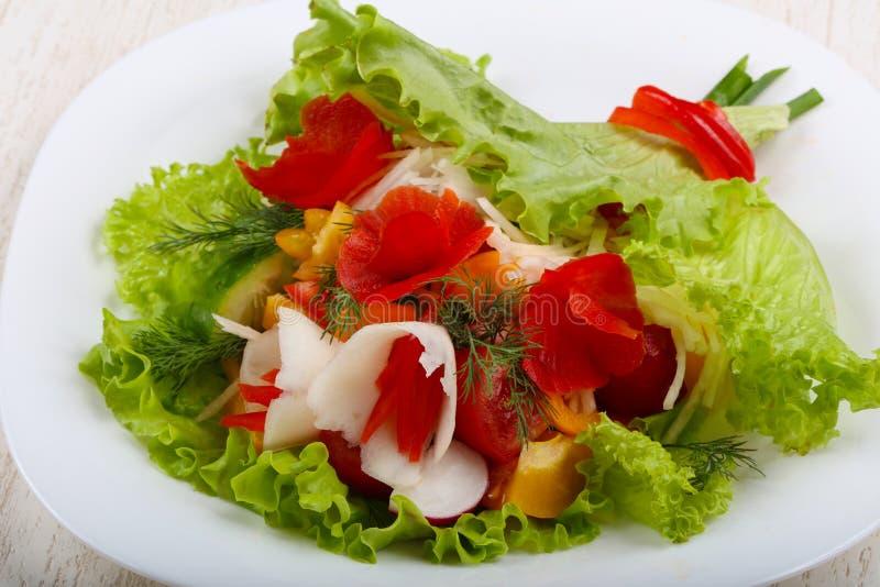 Vegan salad. Bouquet of vegetables royalty free stock photo