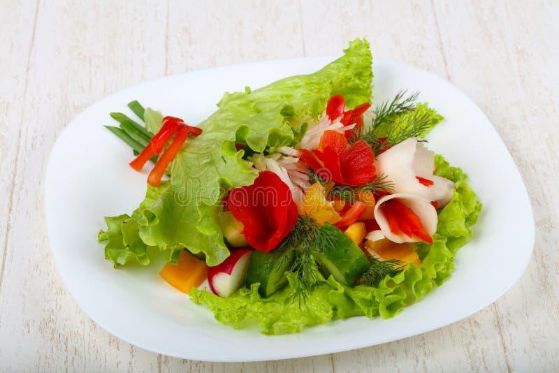 Vegan salad. Bouquet of vegetables royalty free stock image