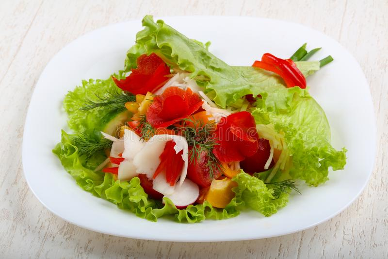 Vegan salad. Bouquet of vegetables stock image