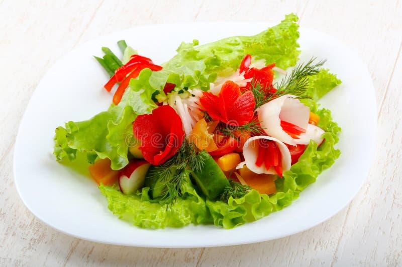 Vegan salad. Bouquet of vegetables stock photography