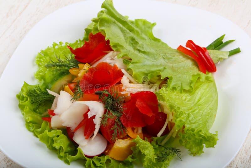 Vegan salad. Bouquet of vegetables stock photo