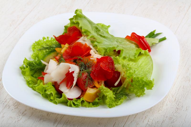 Vegan salad. Bouquet of vegetables royalty free stock images