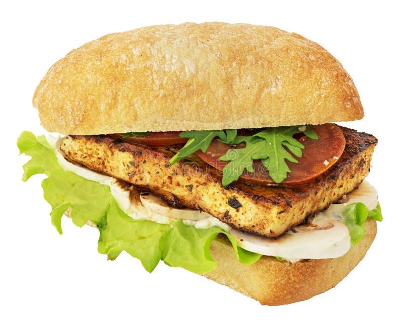 Vegan sandwich isolated on white royalty free stock image