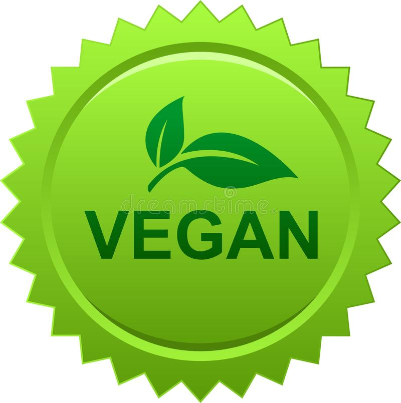 Vegan seal stamp logo royalty free illustration