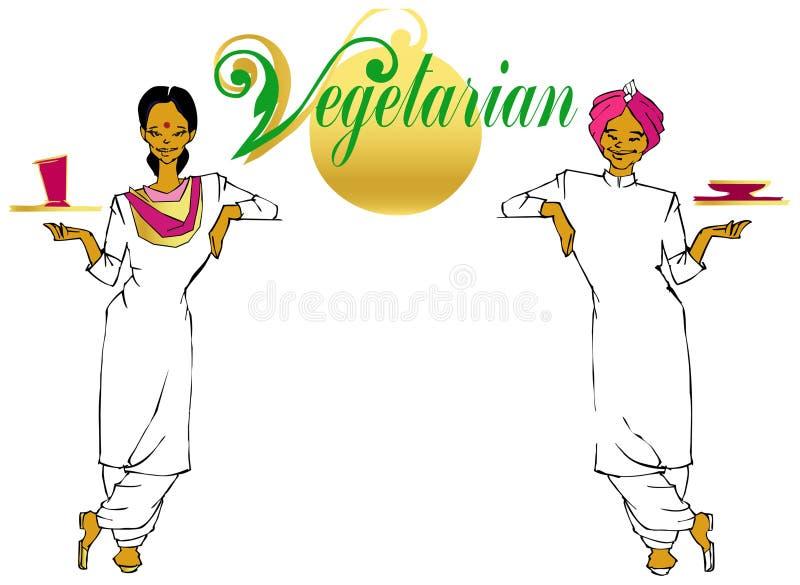 vegan/serie vegetariana illustrazione di stock