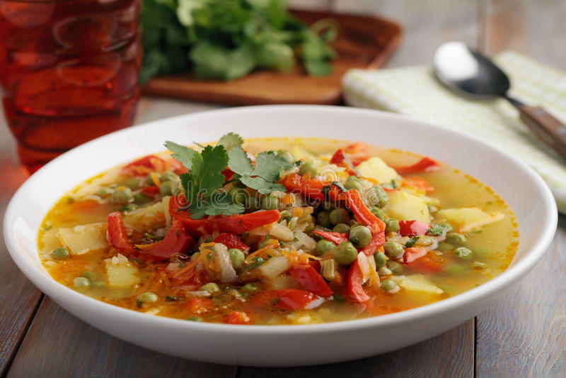 Vegan soup royalty free stock images