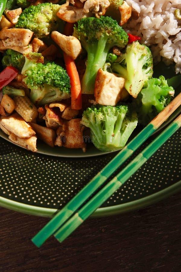Vegan Stir Fry. Vertical compostion of some vegan friendly stir fry royalty free stock photos