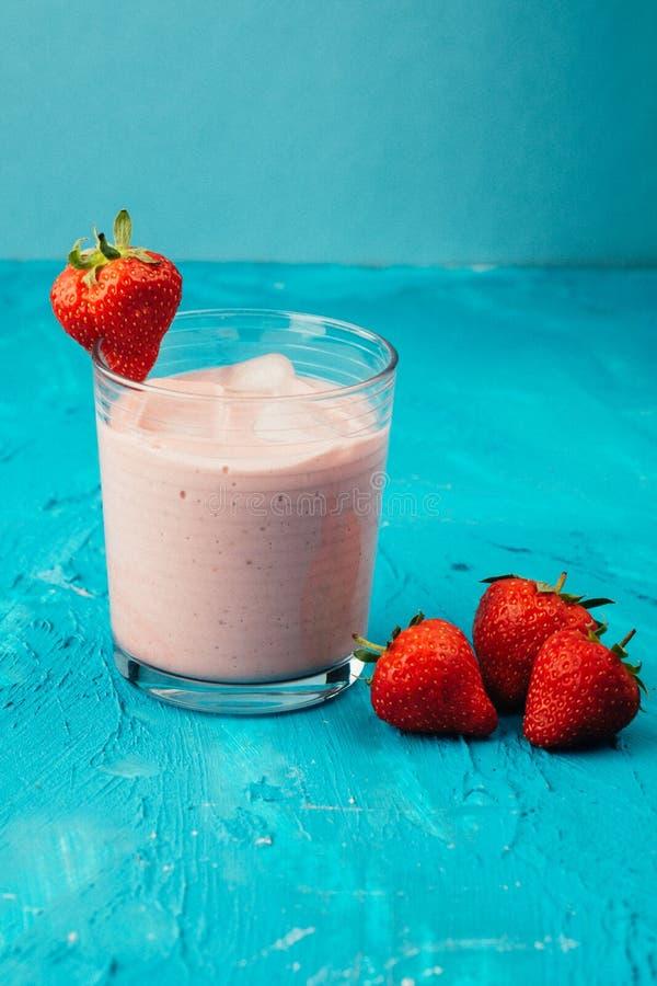 Vegan strawberry smoothie royalty free stock photo