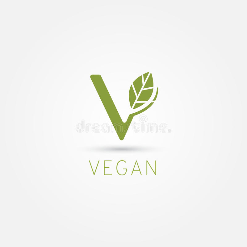 Vegan Symbol V Icon Stock Vector Illustration Of Badge 93536103