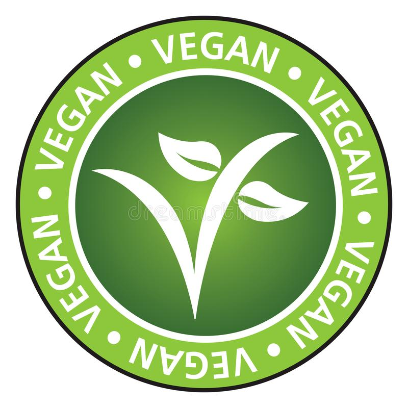 Vegan vector illustration symbol royalty free illustration