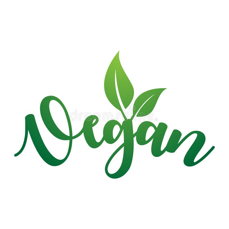 Vegan Vector Lettering. vector illustration