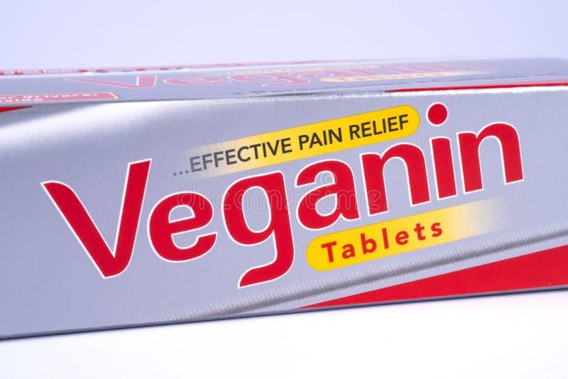Veganin-Schmerzlinderungs-Tablets stockfoto