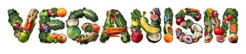 Veganism royaltyfri illustrationer