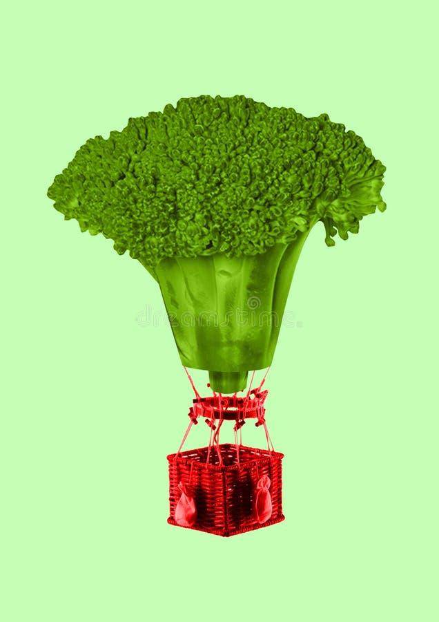 Veganism modern design Samtida konstcollage stock illustrationer