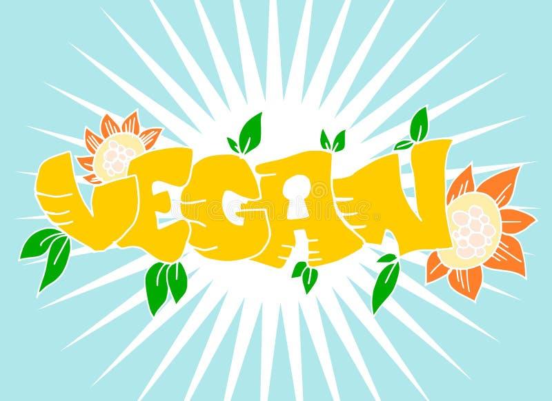 Veganist stock illustratie