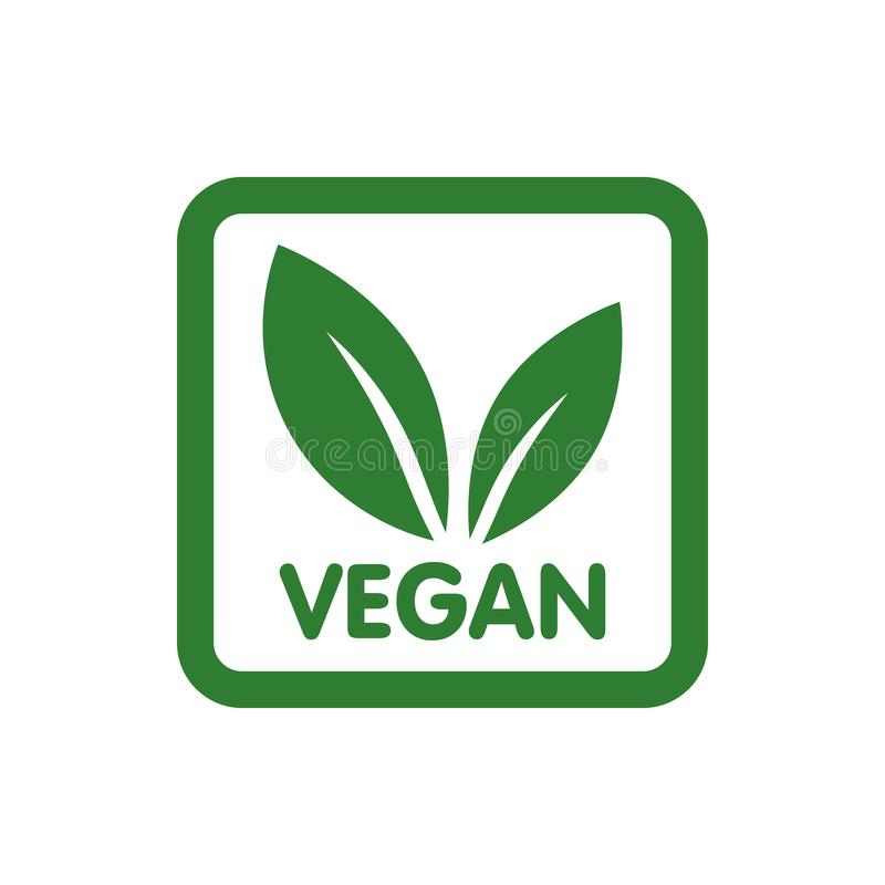 Veganist Bio, Ecologie, Organisch embleem en pictogram, etiket, markering Groen bladpictogram op witte achtergrond vector illustratie