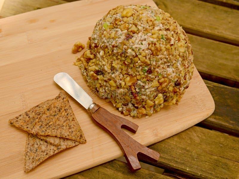 Veganist Cheeseball stock afbeelding