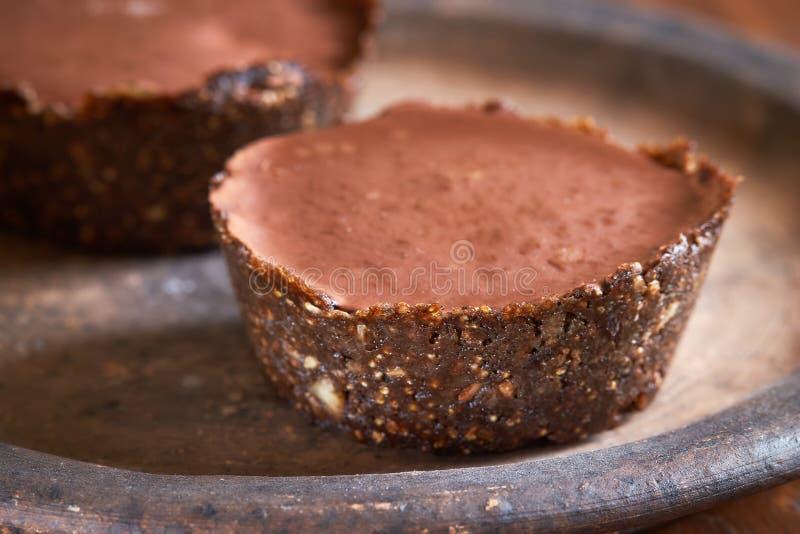 Veganist minicakes royalty-vrije stock foto