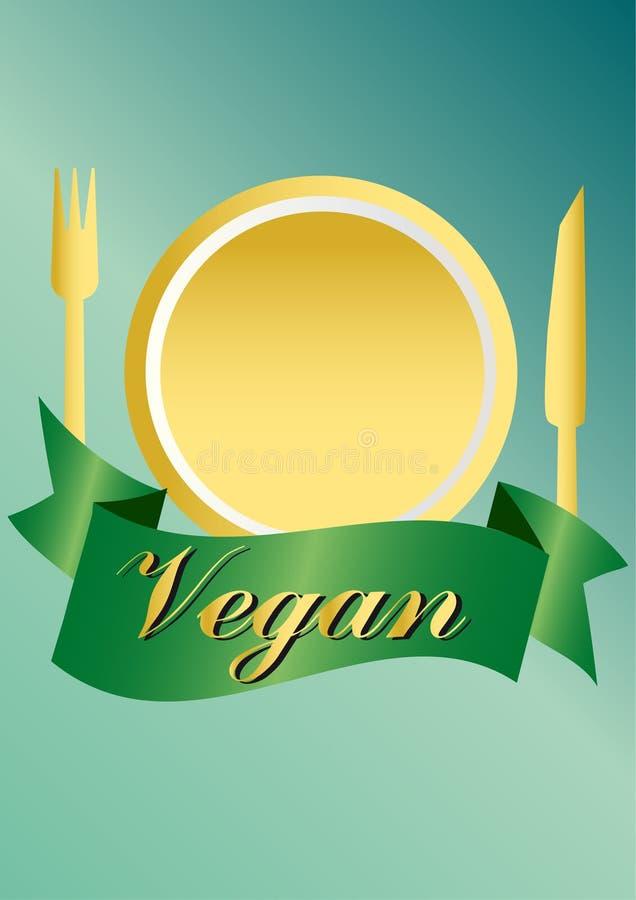 Veganist/vegetarische reeks royalty-vrije illustratie