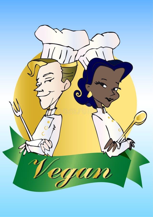 Veganist/vegetarische reeks stock illustratie