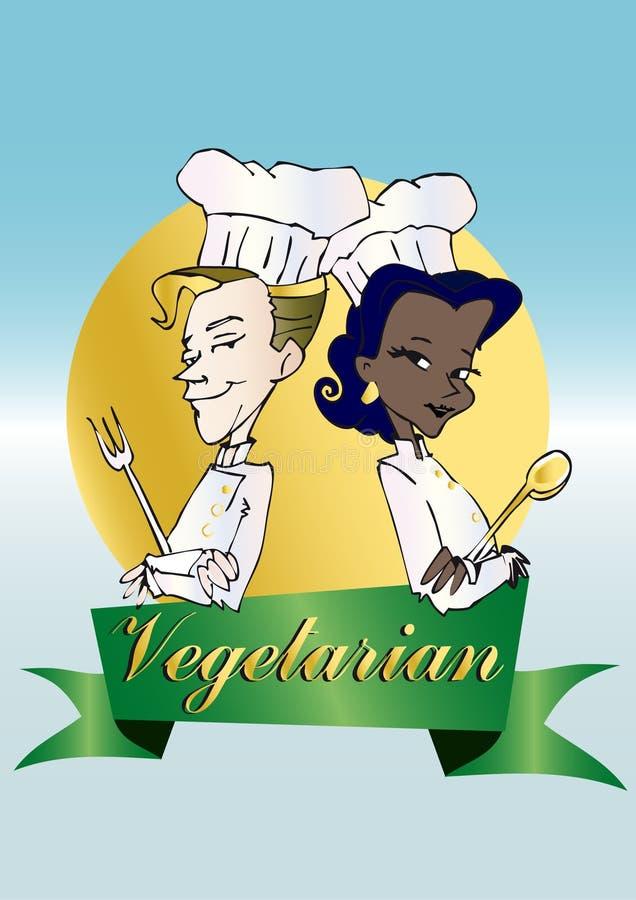 Veganist/vegetarische reeks vector illustratie