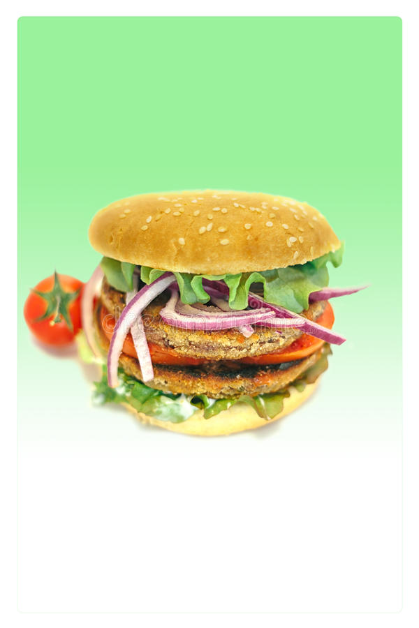 Veganisthamburger stock foto