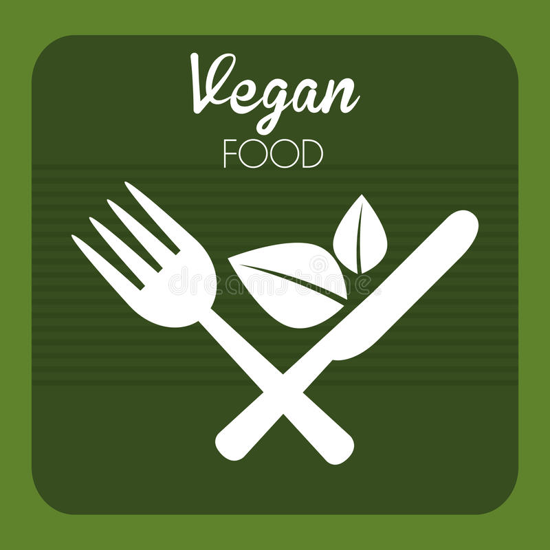 Veganistvoedsel stock illustratie