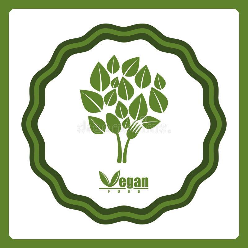 Veganistvoedsel vector illustratie