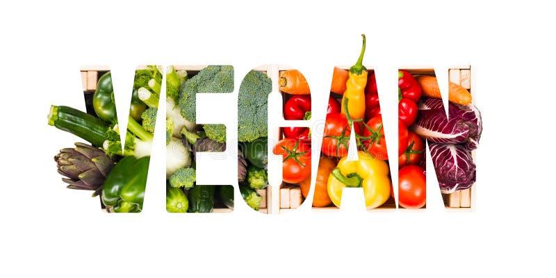 Veganistvoedsel en gezond het eten concept royalty-vrije stock foto