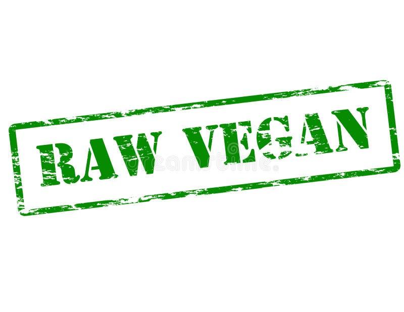 Vegano crudo stock de ilustración
