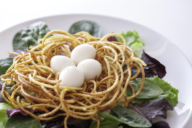 Vegano etico o pasto spiralized sano organico vegetariano fotografia stock