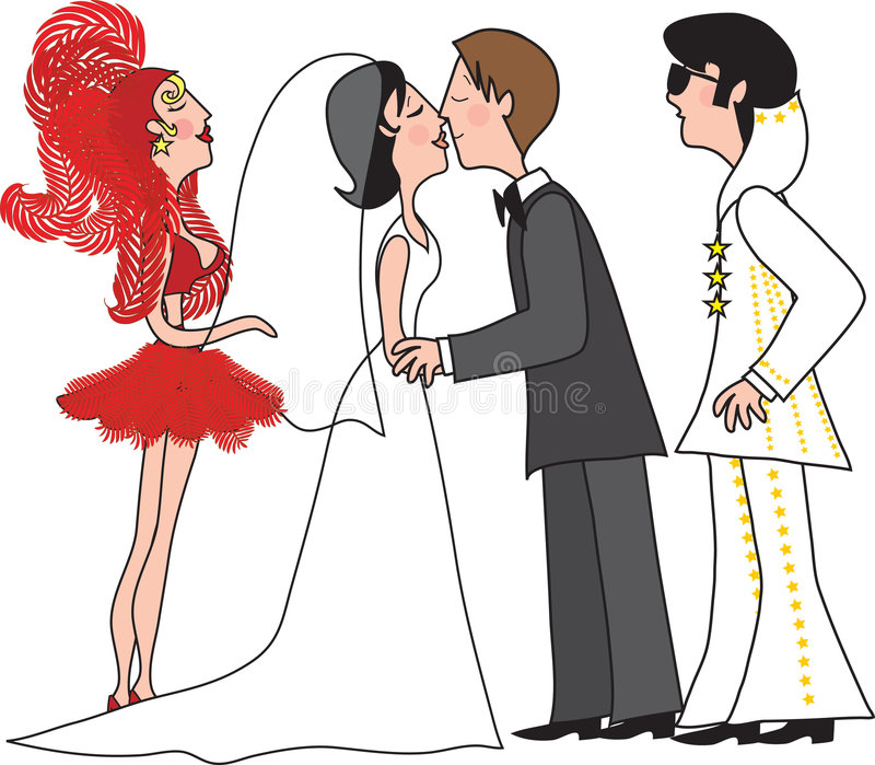 vegas ślub royalty ilustracja