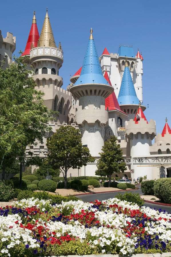 vegas ξενοδοχείων χαρτοπαικτικών λεσχών excalibur las στοκ εικόνα με δικαίωμα ελεύθερης χρήσης