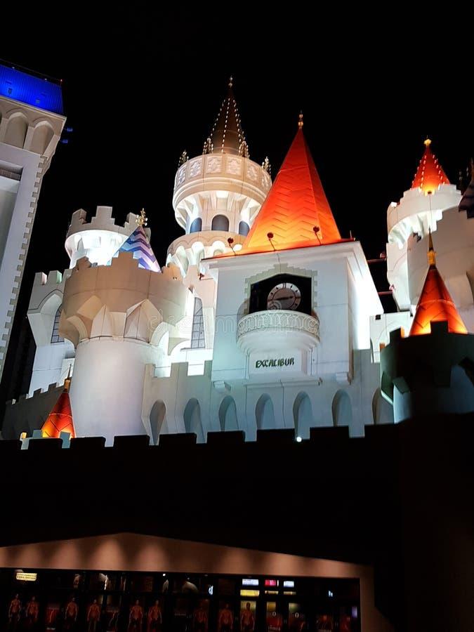 Vegas ξενοδοχείων Excalibur las στοκ εικόνες