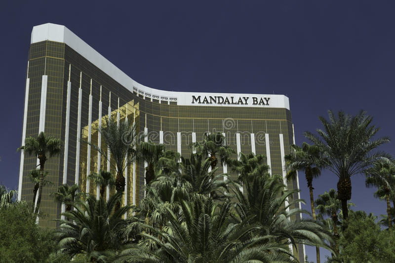 Vegas ξενοδοχείων και χαρτοπαικτικών λεσχών κόλπων του Mandalay las στοκ εικόνα