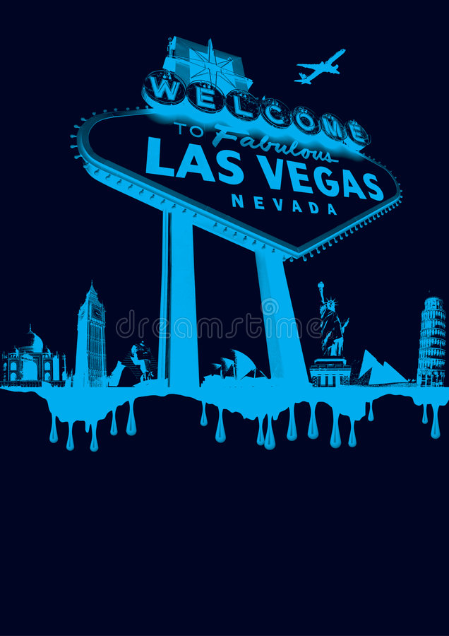 Vegas-blauw stock afbeelding