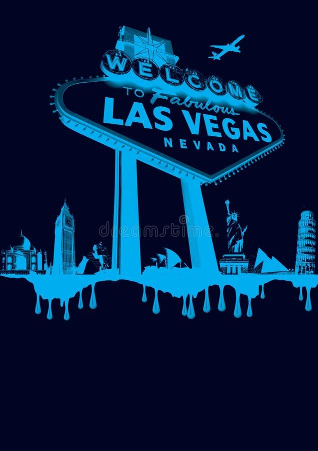 Vegas-bleu image stock