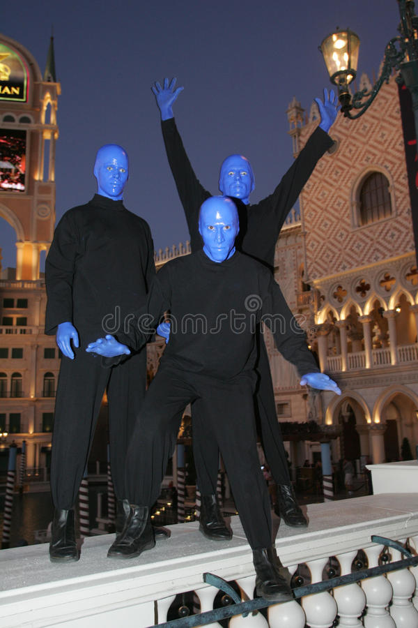 Vegas Blueman3 imagem de stock