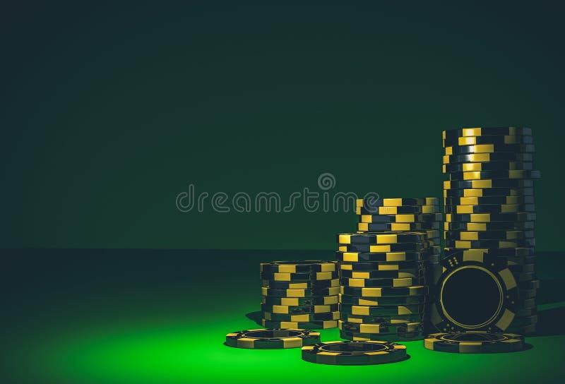 Vegas Casino Chips Backdrop vector illustration