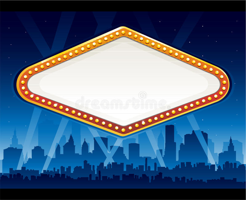 Vegas casino sign stock illustration
