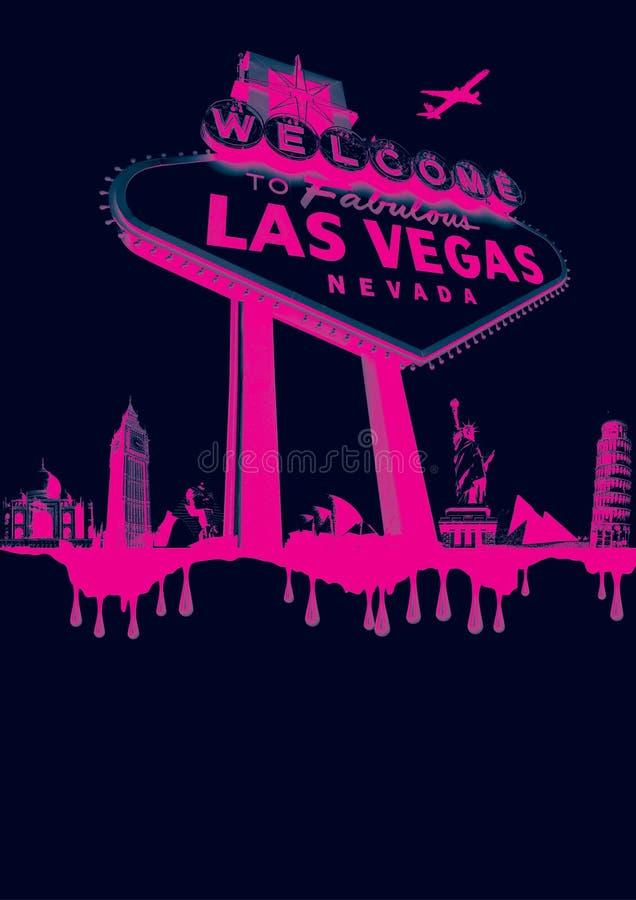 Vegas-cor-de-rosa fotos de stock royalty free
