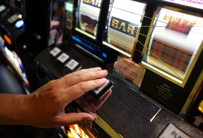 Vegas enarmad bandit arkivfoton