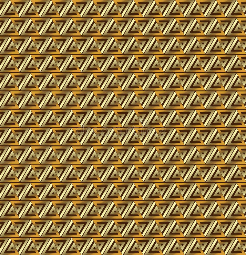 Vegas gold triangles background. Abstract vegas gold triangles background stock illustration