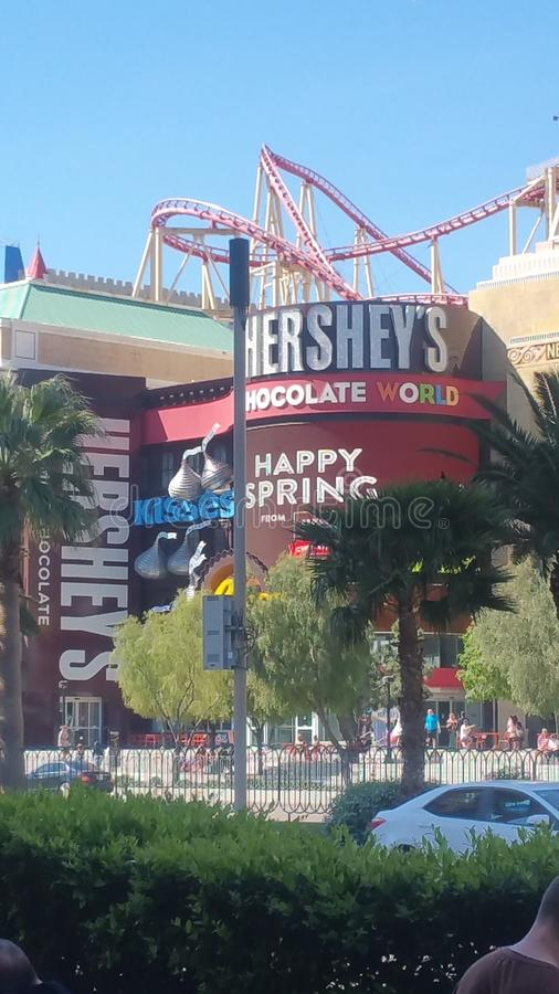 Vegas Hershey& x27 ; s photo libre de droits