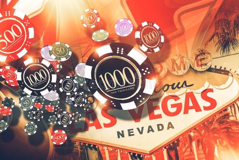 Vegas het Gokken Concept stock illustratie