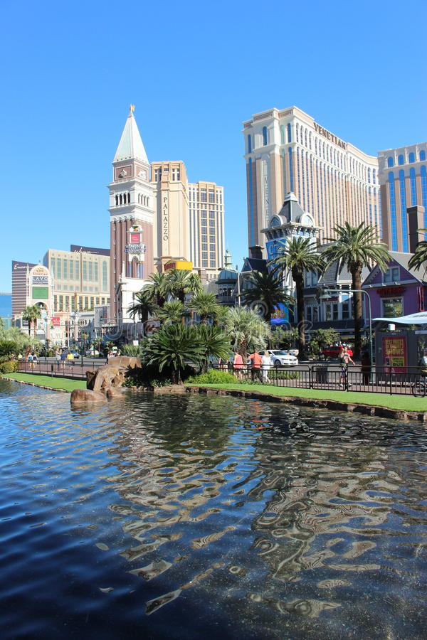 Vegas-Hotelkasino stockfotos