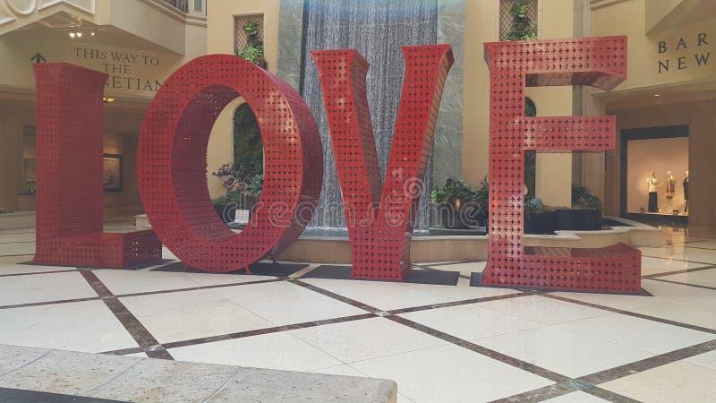 Vegas Las σημαδιών αγάπης στοκ εικόνα