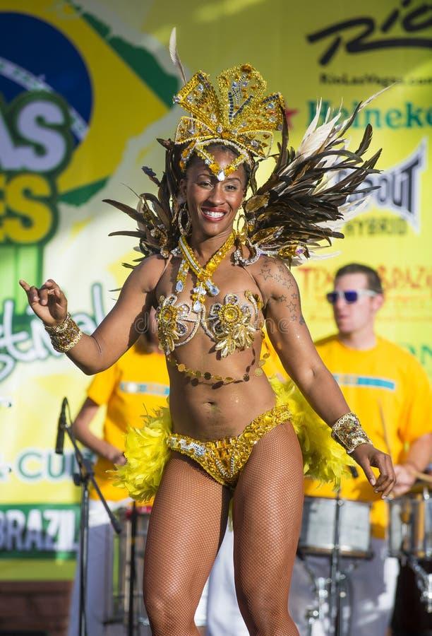Vegas loves Brazil royalty free stock image